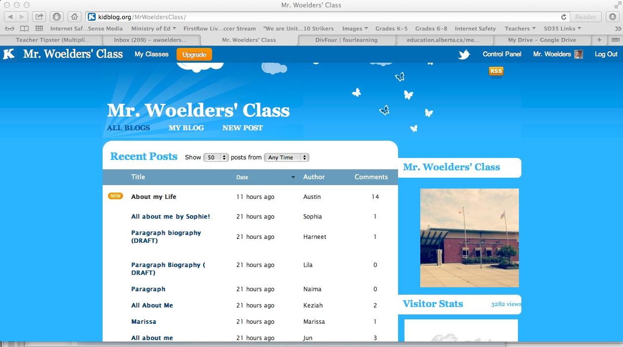TIE Online Portfolio & Resume: Kid Blog