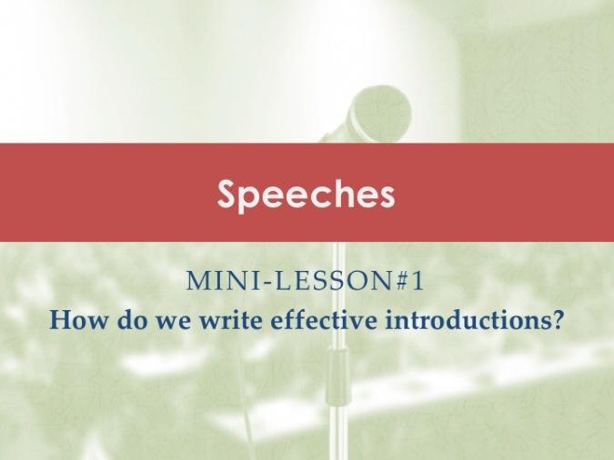 Speeches Mini-lessons [1]